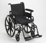 "Viper Plus GT Wheelchair with 18"" wide seat and Flip Back Adjustable Arms with Various Front Rigging-823"