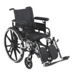 "Viper Plus GT Wheelchair with 16"" wide seat and Flip Back Adjustable Arms with Various Front Rigging-827"