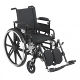 "Viper Plus GT Wheelchair with 18"" wide seat and Flip Back Adjustable Arms with Various Front Rigging-828"