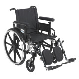 "Viper Plus GT Wheelchair with 18"" wide seat and Flip Back Adjustable Arms with Various Front Rigging-829"