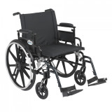 "Viper Plus GT Wheelchair with 22"" wide seat and Flip Back Adjustable Arms with Various Front Rigging-832"