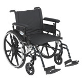 "Viper Plus GT Wheelchair with 22"" wide seat and Flip Back Adjustable Arms with Various Front Rigging-833"