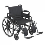 "Viper Plus GT Wheelchair with 22"" wide seat and Flip Back Adjustable Arms with Various Front Rigging-834"