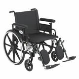"Viper Plus GT Wheelchair with 22"" wide seat and Flip Back Adjustable Arms with Various Front Rigging-835"