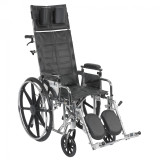 "Sentra Reclining Wheelchair with 16"" wide seat and Various Arm Styles and Elevating Leg rest-852"