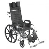 "Sentra Reclining Wheelchair with 18"" wide seat and Various Arm Styles and Elevating Leg rest-855"