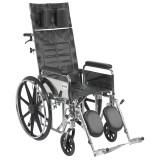 "Sentra Reclining Wheelchair with 18"" wide seat and Various Arm Styles and Elevating Leg rest-858"