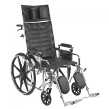 "Sentra Reclining Wheelchair with 20"" wide seat and Various Arm Styles and Elevating Leg rest-859"