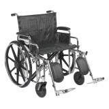 "Sentra Extra Heavy Duty Wheelchair with 24"" wide seat and Various Arm Styles and Front Rigging Options-872"