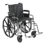 "Sentra Extra Heavy Duty Wheelchair with 22"" wide seat and Various Arm Styles and Front Rigging Options-878"