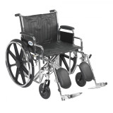 "Sentra EC Heavy Duty Wheelchair with 22"" wide seat and Various Arm Styles and Front Rigging Options-889"