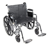 "Sentra EC Heavy Duty Wheelchair with 24"" wide seat and Various Arm Styles and Front Rigging Options-891"