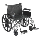 "Sentra EC Heavy Duty Wheelchair with 24"" wide seat and Various Arm Styles and Front Rigging Options-892"