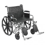 "Sentra EC Heavy Duty Wheelchair with 24"" wide seat and Various Arm Styles and Front Rigging Options-893"