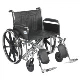 "Sentra EC Heavy Duty Wheelchair with 24"" wide seat and Various Arm Styles and Front Rigging Options-894"