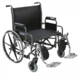 "Sentra Heavy Duty Wheelchair with 26"" wide seat and Various Arm Styles-895"