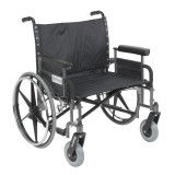 "Sentra Heavy Duty Wheelchair with 28"" wide seat and Various Arm Styles-898"