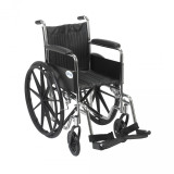 Chrome Sport Wheelchair with Various Arm Styles and Front Rigging Options-940