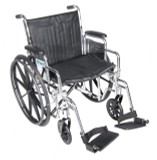 Chrome Sport Wheelchair with Various Arm Styles and Front Rigging Options-942
