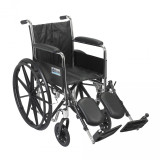 Chrome Sport Wheelchair with Various Arm Styles and Front Rigging Options-944