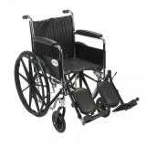 Chrome Sport Wheelchair with Various Arm Styles and Front Rigging Options-947