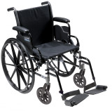 "Cruiser III Light Weight Wheelchair with 20"" wide seat and Various Flip Back Arm Styles and Front Rigging Options-973"