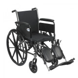 "Cruiser III Light Weight Wheelchair with 16"" wide seat and Various Flip Back Arm Styles and Front Rigging Options-979"