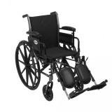 "Cruiser III Light Weight Wheelchair with 16"" wide seat and Various Flip Back Arm Styles and Front Rigging Options-984"