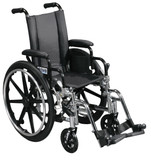 "Viper Wheelchair with 12"" wide seat and Various Flip Back Desk Arm Styles and Front Rigging Options-987"