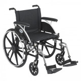 "Viper Wheelchair with 20"" wide seat and Various Flip Back Desk Arm Styles and Front Rigging Options-996"