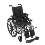 "Viper Wheelchair with 12"" wide seat and Various Flip Back Desk Arm Styles and Front Rigging Options-997"