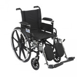"Viper Wheelchair with 16"" wide seat and Various Flip Back Desk Arm Styles and Front Rigging Options-999"