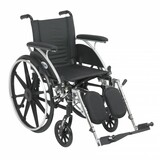 "Viper Wheelchair with 16"" wide seat and Various Flip Back Desk Arm Styles and Front Rigging Options-1001"