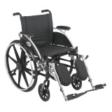 "Viper Wheelchair with 18"" wide seat and Various Flip Back Desk Arm Styles and Front Rigging Options-1003"