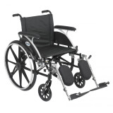 "Viper Wheelchair with 20"" wide seat and Various Flip Back Desk Arm Styles and Front Rigging Options-1006"
