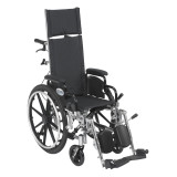 "Viper Plus Light Weight Reclining Wheelchair with 12"" wide seat and Elevating Leg rest and Various Flip Back Arm Styles-1009"