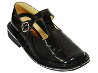 PATENT LEATHER T-BAR CALA BATA