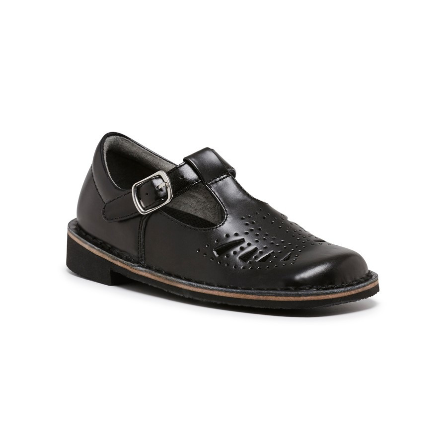 NEW HARRISON INDIANA II T-BAR JUNIOR GIRLS LEATHER SCHOOL SHOES