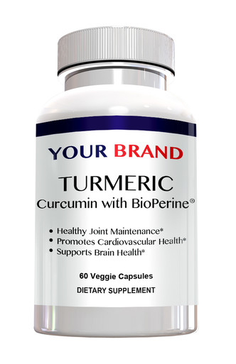 Private Label Supplements Turmeric Curcumin with Bioperine