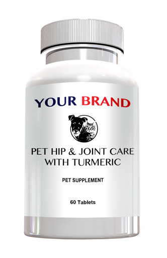 Private Label Pet Supplements - Hip & Joint Care with Turmeric