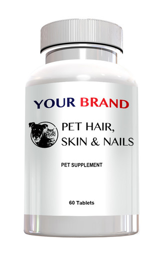 Private Label Pet Supplements - Pet Hair, Skin & Nails