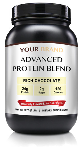 Private Label Supplements - Natural Whey Protein Powder - Rich Chocolate, 28 Servings