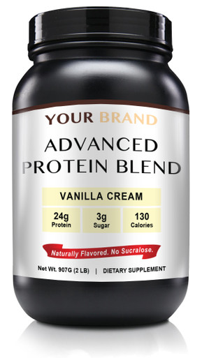 Private Label Supplements - Natural Whey Protein Powder - Vanilla Cream, 28 Servings