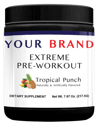 Private Label Supplements-  Extreme Pre-Workout