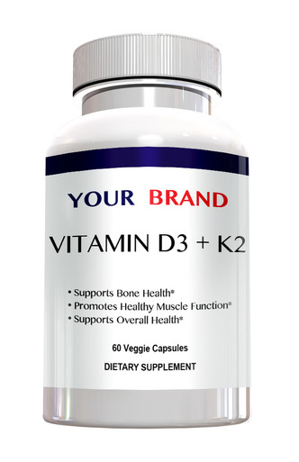 Private Label Supplements Vitamin D3 + K2