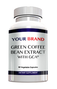Private label green coffee bean extract with GCA
