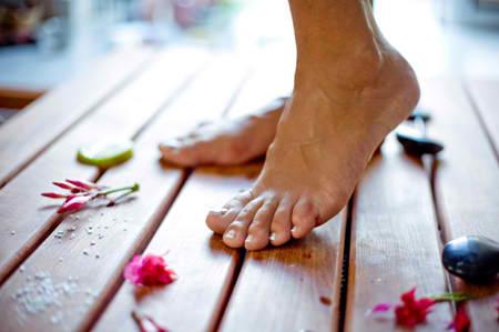 feet on deck