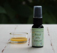 Royal Jelly Serum containing powerful anti-oxidants and anti-aging ingredients.