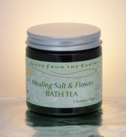 Soothing Salt and Flower Bath Tea