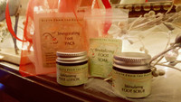 Revitalizing Foot Soak, Stimulating Foot Scrub and Exhilarating Lotion create a perfect spa treatment!